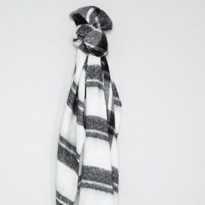 ASOS long oversized brush check scarf